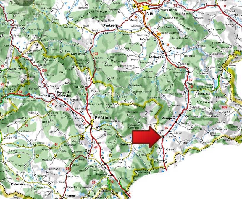mapa srbija vranje Mapa | Bujanovacka Banja mapa srbija vranje